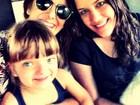 Ticiane Pinheiro posa com Rafa Justus e 'filha postiça'