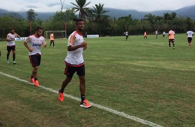 Flamengo, treinho, Ninho, Léo Moura (Foto: Ivan Raupp)