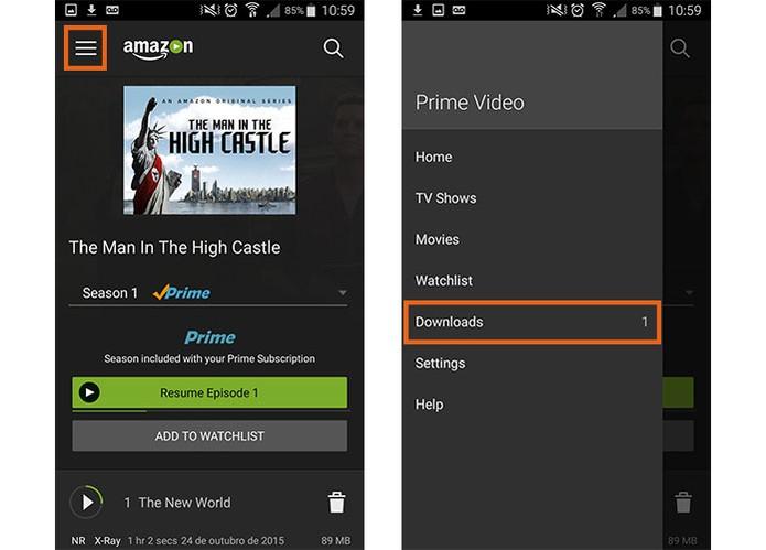 Acesse a categoria de downloads no app (Foto: Reprodução/Barbara Mannara)