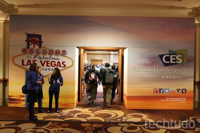 CES 2015 acontece em Las Vegas, nos Estados Unidos; acompanhe a cobertura no TechTudo.com (Foto: Fabrício Vitorino / TechTudo)