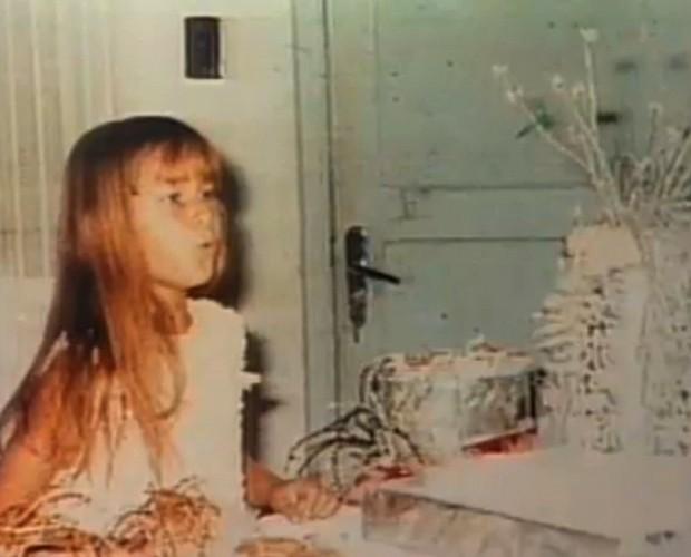 O Arquivo Confidencial trouxe imagens de Xuxa na infância (Foto: Domingão do Faustão / TV Globo)