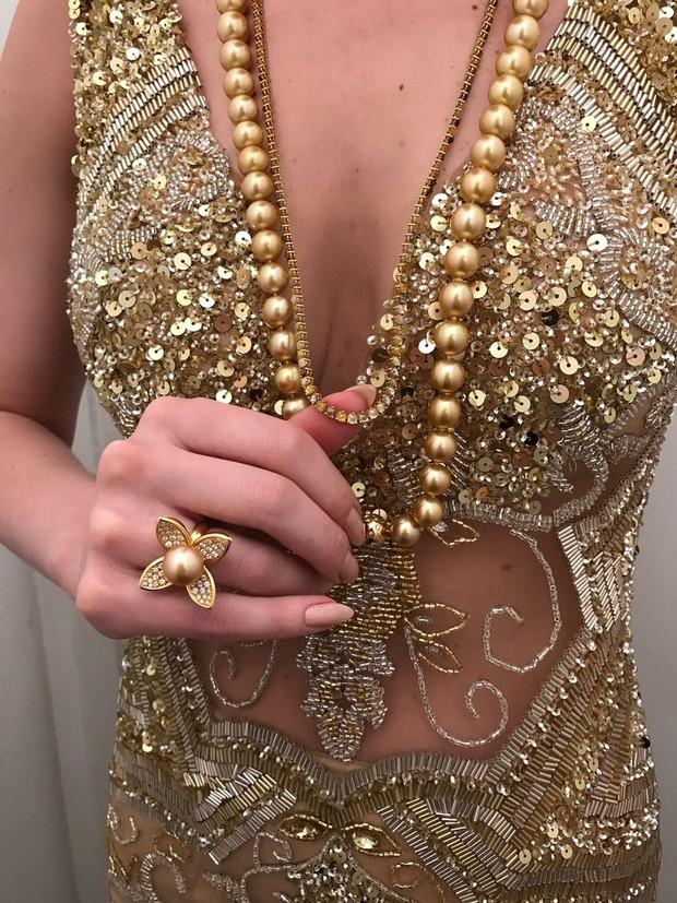 Fernanda Keulla usa look com transparência e joias poderosas (Foto: Reprodução do Instagram)