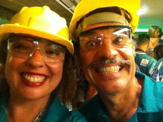 O ator Paulo Betti e a filha Mariana no carnaval (Foto: Arquivo Pessoal)