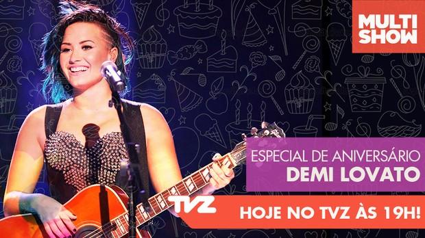demi lovato tvz (Foto: Multishow)