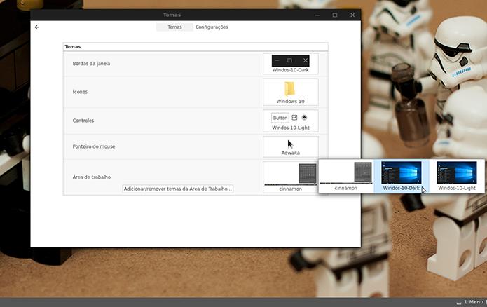 Vá alterando cada elemento para as opções referentes ao tema do Windows 10 (Foto: Reprodução/Filipe Garrett)