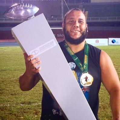 Vinicius Soares foi campeão do Torneio Touchdown em 2014 pelo Vasco Patriotas (Foto: Reprodução/Facebook)