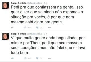 Maria Claudia desabafa sobre seu relacionamento com Matheus (Foto: Reprodução/Twitter)