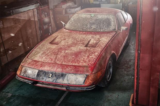 Ferrari Daytona rara é encontrada após 40 anos no Japão (Foto: Divulgação)