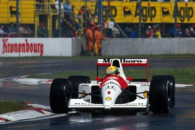Senna no GP de San Marino de 1991 (Foto: Divulgação)