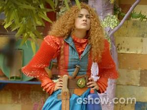 Gina discute com Juliana (Foto: Meu Pedacinho de Chão/TV Globo)