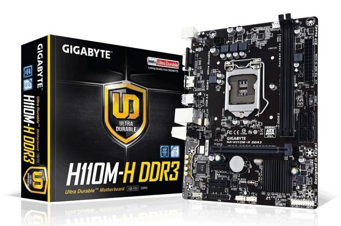Placa-mãe GA-H110M-H DDR3 (Foto: Divulgação/ Gigabyte)