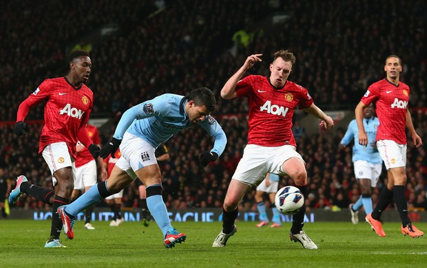 Aguero, Manchester United x Manchester City (Foto: Getty Images)