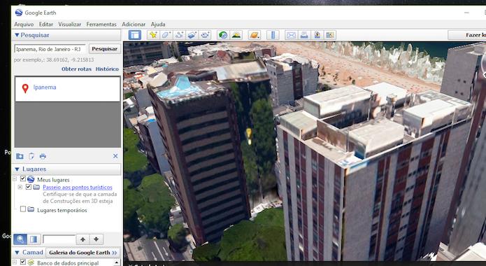 Visualizando outros ângulos de um mesmo prédio com o modo 3D do Google Earth (Foto: Reprodução/Marvin Costa)