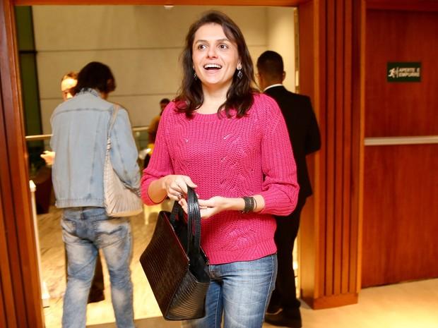 Monica Iozzi em estreia de peça em São Paulo (Foto: Manuela Scarpa/ Brazil News)