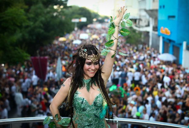 Alessandra Negrini é rainha do Bloco Baixo Augusta (Foto: Divulgação)
