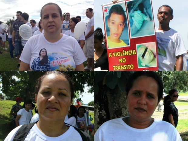 Familiares de vítimas de violência cobram por justiça em caminhada em Porto Velho (Foto: Vanessa Vasconcelos/G1)