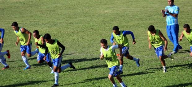 Parnahyba faz treino físico após amistoso (Foto: Gilson Brito/Acesso 343)