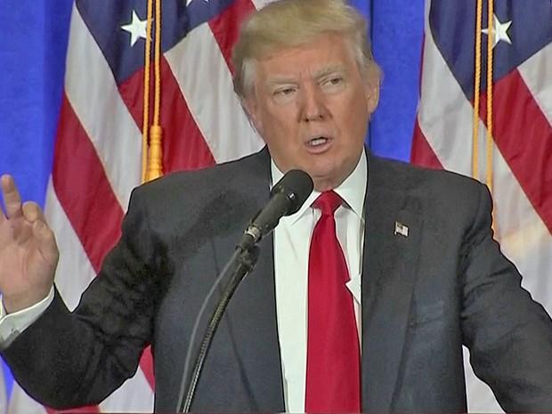O futuro presidente dos EUA, Donald Trump, concede 1ª entrevista coletiva desde a eleição
