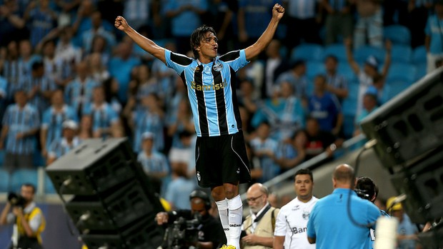 Moreno na arena do grêmio (Foto: Lucas Uebel/Divulgação, Grêmio)