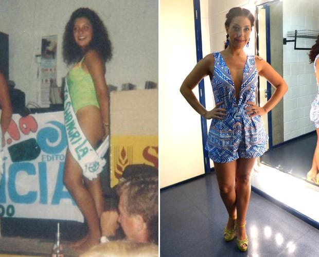 Que transformação! Fabíula em concurso de beleza quando era mais nova (Foto: Paula Santos/Gshow)