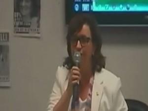 Reitora suspendeu sessão do conselho. (Foto: Reprodução/ RBS TV)