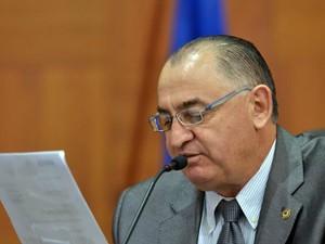 O deputado estadual Ondanir Bortoloni (PR), o Nininho, ex-prefeito de Itiquira. (Foto: Maurício Barbant/ALMT)