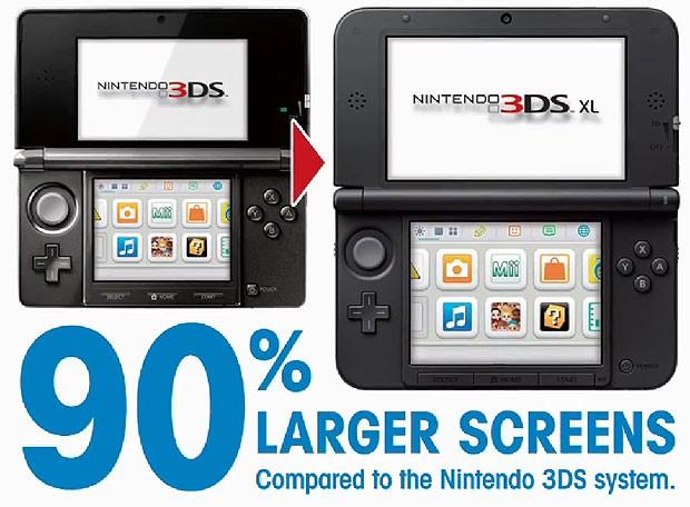 Nintendo mostra a diferença no tamanho do novo portátil 3DS (Foto: Divulgação)