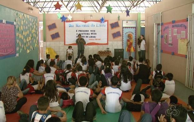 Evento celebra o Dia Nacional do Livro em Boa Vista (Foto: Roraima TV)