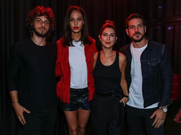 Chay Suede, Joan Smalls, Fernanda Paes Leme e Marco Pigossi (Foto: Raphael Castello/AgNews)