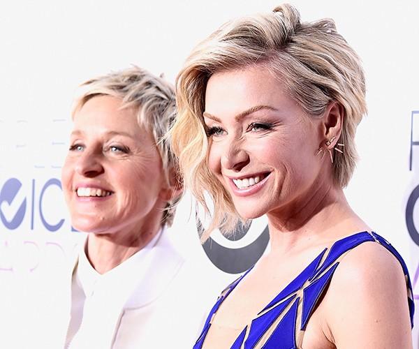 Ellen DeGeneres e Portia de Rossi (Foto: Getty Images)