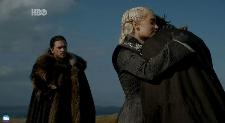Daenerys recebe um visitante especial no quinto episódio (Foto: Reprodução/Twitter)