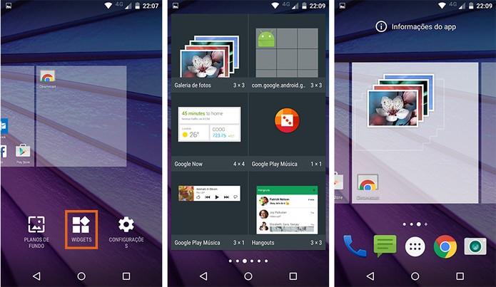 Adicione widgets personalizados no Moto G 3 (Foto: Reprodução/Barbara Mannara)