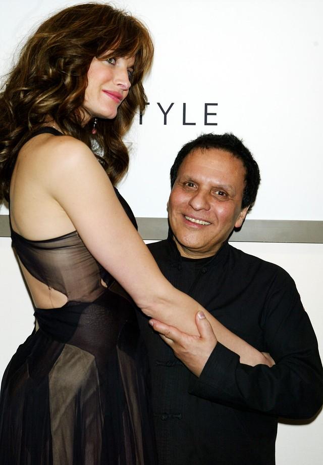 Com Stephanie Seymor, uma de suas musas (Foto: Getty Images)