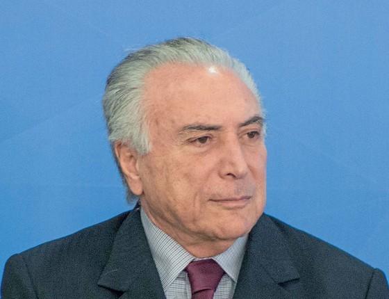 Michel Temer,presidente do Brasil (Foto:  ALBERY SANTINI/FUTURA PRESS/ESTADÃO CONTEÚDO)