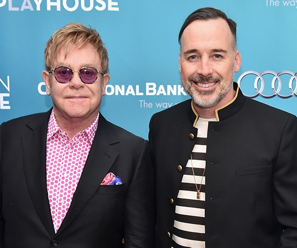 Elton John e David Furnich (Foto: Getty Images)