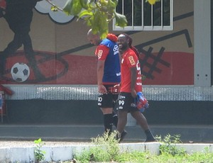 Adriano e Vagner Love, Flamengo (Foto: Richard Souza / Globoesporte.com)