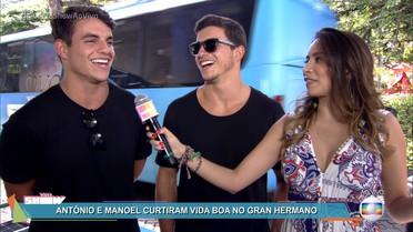 Antônio e Manoel falam sobre a participação no Gran Hermano Vip