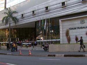 TRT-15 de Campinas está em greve e com audiências suspensas nesta segunda (20) (Foto: Reprodução / EPTV)