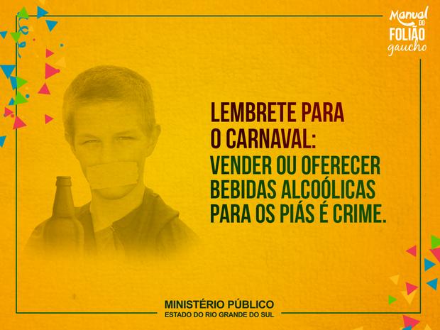 Campanha usa linguagem regionalista para explicar que venda de bebida alcoólica é proibida a crianças e adolescentes (Foto: MP/Divulgação)