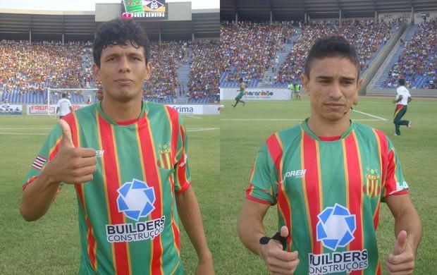 O atacante Pimentinha e o volante Eloir foram oferecidos ao América-RN (Foto: Montagem/Globoesporte.com)