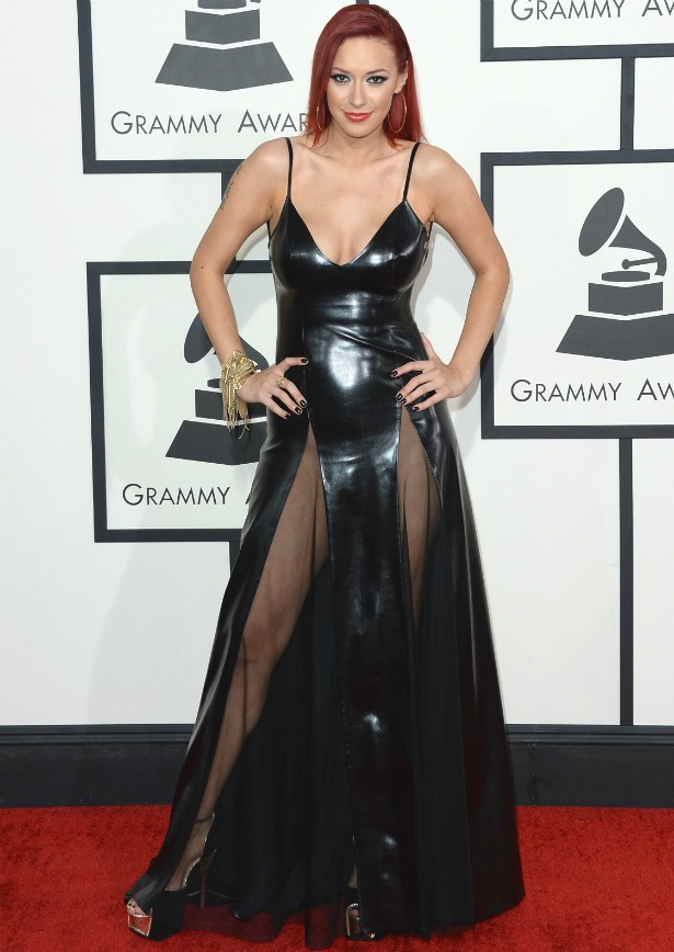 A cantora Kaya Jones no Grammy 2014. (Foto: Getty Images)
