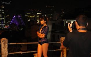 Making of - Bianca Jahara posa para o Paparazzo (Foto: Luciana Tancredo / Cia da Foto)