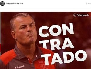 Vila Nova anuncia técnico Mazola Júnior (Foto: Reprodução / Instagram)