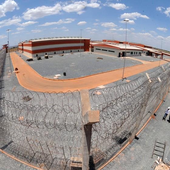 Imagem aérea da Penitenciária Federal de Brasília, parte do Complexo Penitenciário da Papuda (Foto: Isaac Amorim/MJ )