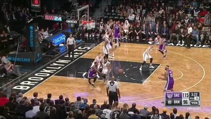 Melhores momentos de Sacramento Kings 122 x 105 Brooklyn Nets pela NBA