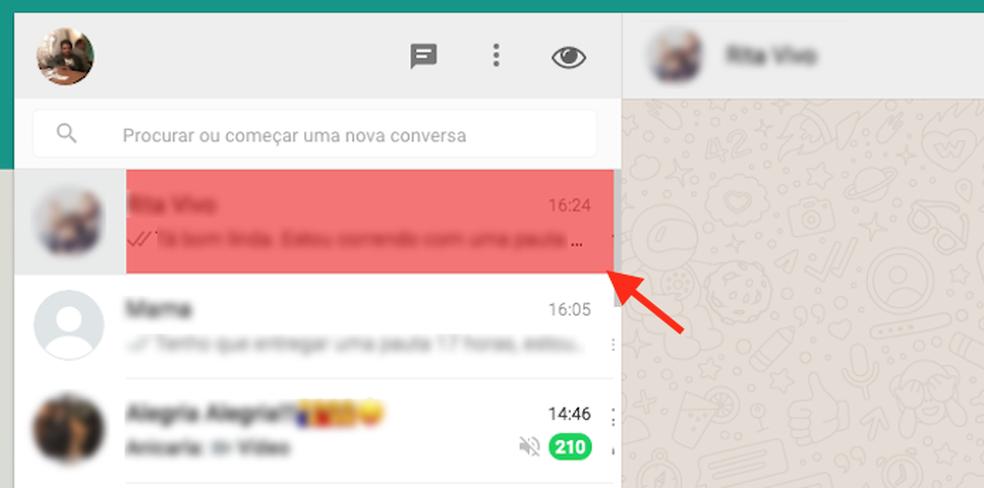 Ação para apagar dados de uma conversa do WhatsApp Web com a extensão Page Eraser do Google Chrome (Foto: Reprodução/Marvin Costa)