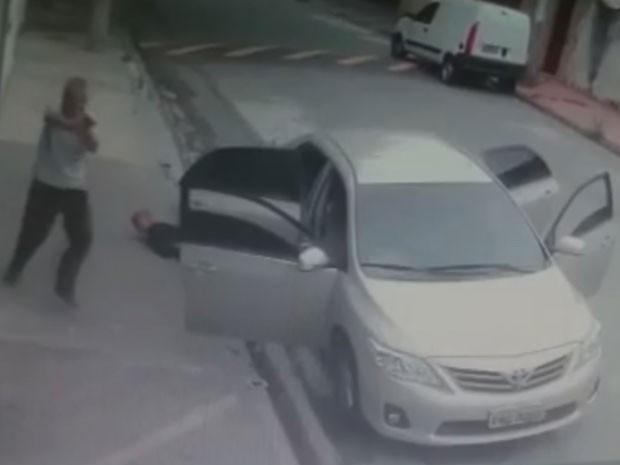 PM que atuava como motorista de Uber reagiu a assalto e matou três assaltantes em SP (Foto: Reprodução/TVGlobo)
