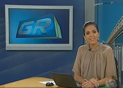A apresentadora e ex-editora chefe, Vilma Oliveira (Foto: Divulgação TV Grande Rio)