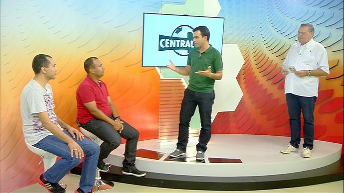 Central MS, Hélder Rafael, Átilla Eugênio, Marcos Silvestre e técnico Tiago Batizoco (Foto: Reprodução)