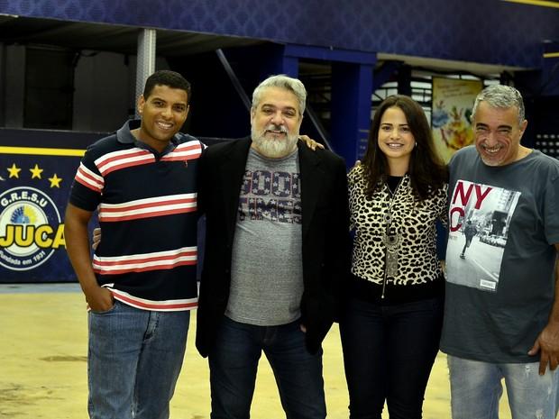 Os carnavalescos Unidos da Tijuca Marcus Paulo, Mauro Quintaes, Annik Salmon e Helcio Paim (Foto: Roberto Teixeira/ EGO)